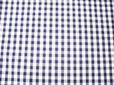 "1/4"" Gingham Quality Polycotton Fabric in navy Blue"